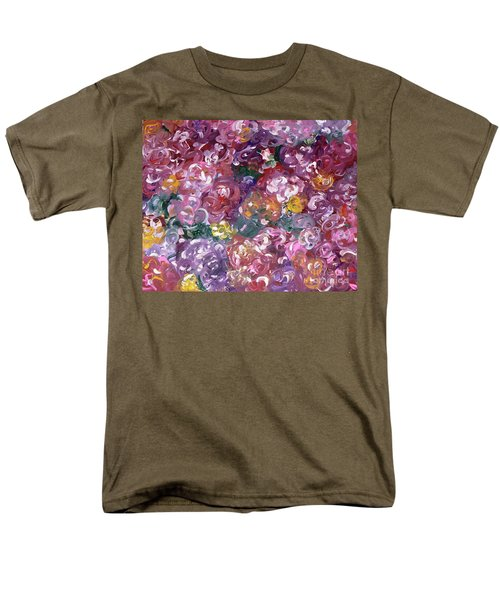 Men's T-Shirt  (Regular Fit) featuring the painting Rose Festival by Alys Caviness-Gober