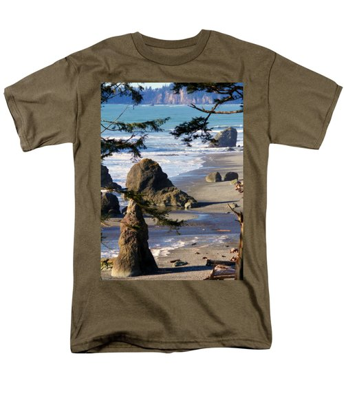 Men's T-Shirt  (Regular Fit) featuring the photograph Ruby Beach Iv by Jeanette C Landstrom