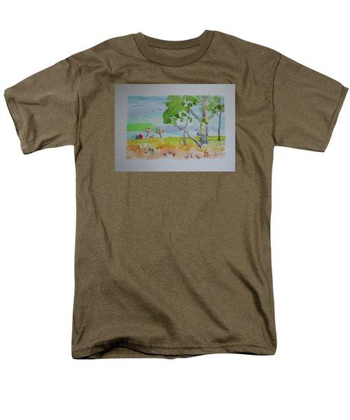 Sandpoint Bathers Men's T-Shirt  (Regular Fit) by Francine Frank