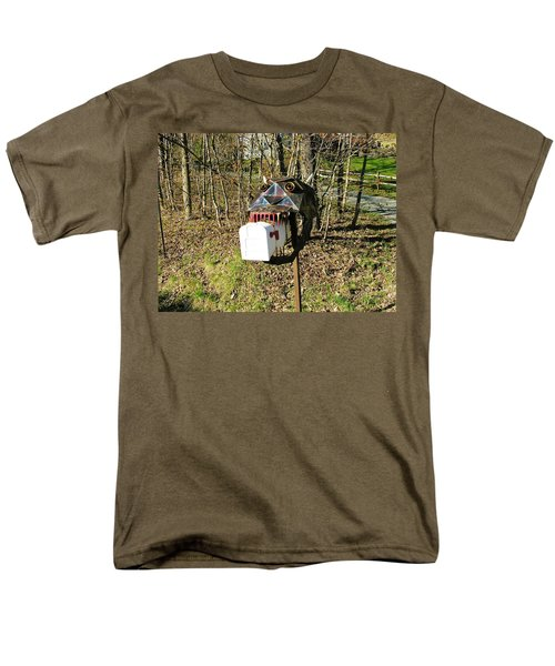 Men's T-Shirt  (Regular Fit) featuring the photograph Scary Mailbox 3 by Sherman Perry