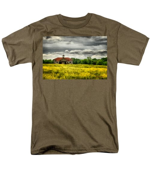 Men's T-Shirt  (Regular Fit) featuring the painting Shiloh School by Lynne Jenkins