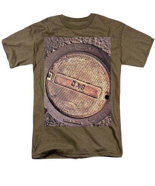 Men's T-Shirt  (Regular Fit) featuring the photograph Sidewalk Gas Cover by Bill Owen