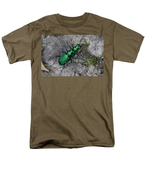 Men's T-Shirt  (Regular Fit) featuring the photograph Six-spotted Tiger Beetles Copulating by Daniel Reed