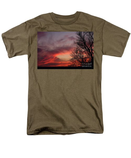 Men's T-Shirt  (Regular Fit) featuring the photograph Sky On Fire by Art Whitton