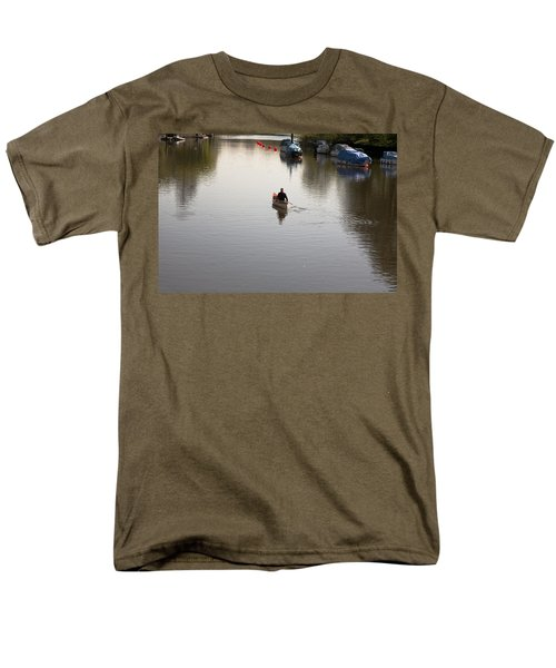 Men's T-Shirt  (Regular Fit) featuring the photograph Solo Rowing by Maj Seda