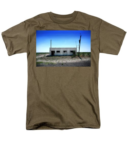 Men's T-Shirt  (Regular Fit) featuring the photograph Somewhere On The Old Pecos Highway Number 1 by Lon Casler Bixby