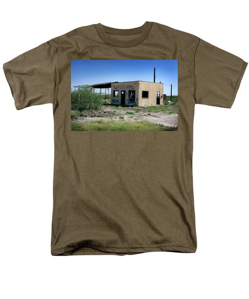 Men's T-Shirt  (Regular Fit) featuring the photograph Somewhere On The Old Pecos Highway Number 7 by Lon Casler Bixby