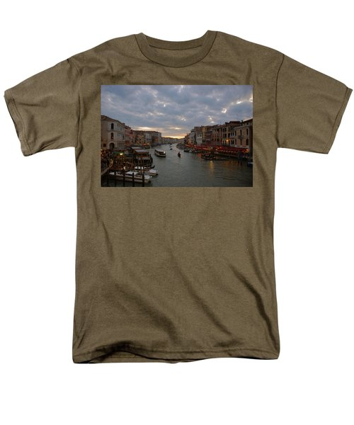 Sun Sets Over Venice Men's T-Shirt  (Regular Fit) by Eric Tressler