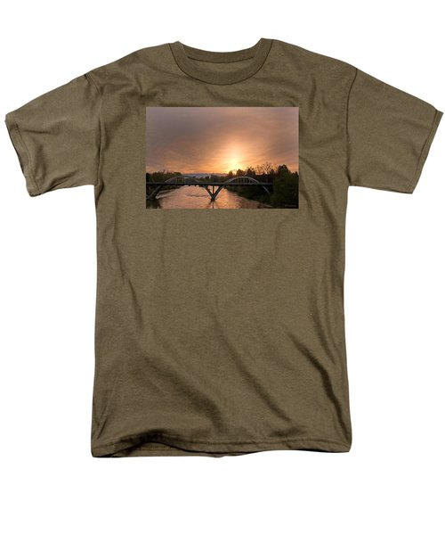 Sunburst Sunset Over Caveman Bridge Men's T-Shirt  (Regular Fit) by Mick Anderson