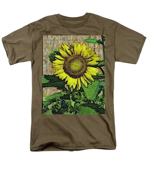 Men's T-Shirt  (Regular Fit) featuring the photograph Sunflower Face by Alec Drake