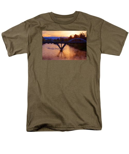 Sunset Over Caveman Bridge Men's T-Shirt  (Regular Fit) by Mick Anderson