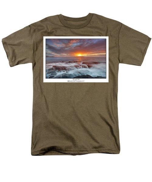 Sunset Tides - Cemlyn Men's T-Shirt  (Regular Fit) by Beverly Cash