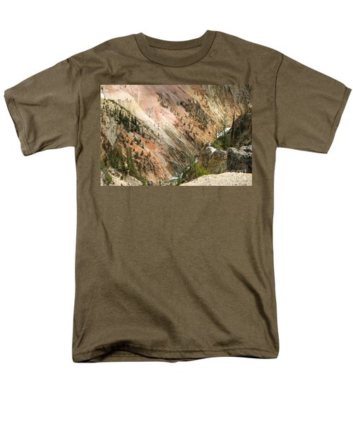 Men's T-Shirt  (Regular Fit) featuring the photograph Sunshine On Grand Canyon In Yellowstone by Living Color Photography Lorraine Lynch
