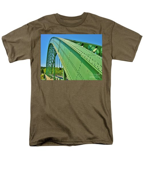 Men's T-Shirt  (Regular Fit) featuring the photograph Suspension Bridge by Sherman Perry