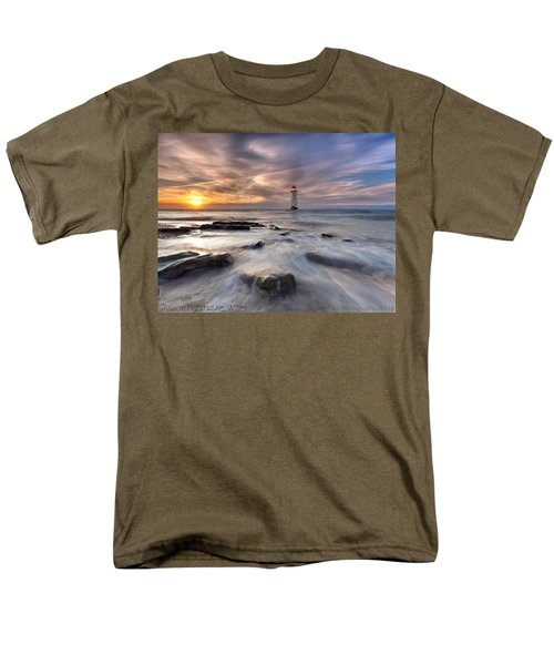 Men's T-Shirt  (Regular Fit) featuring the photograph Talacre Lighthouse  by Beverly Cash