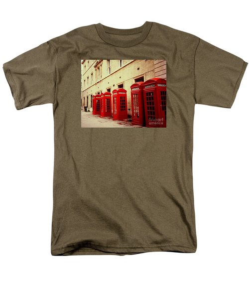Men's T-Shirt  (Regular Fit) featuring the photograph Telephone Booths by Ranjini Kandasamy
