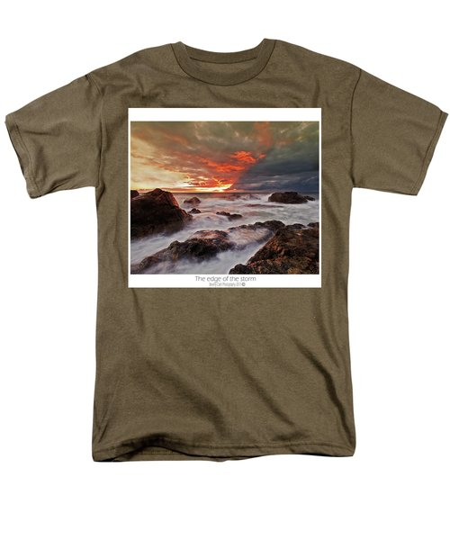 Men's T-Shirt  (Regular Fit) featuring the photograph The Edge Of The Storm by Beverly Cash