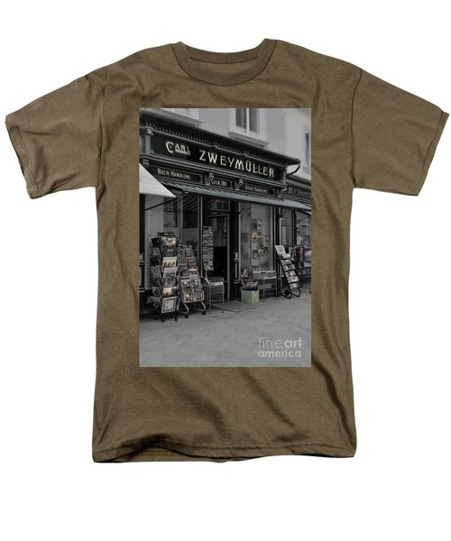 The Old Bookstore Men's T-Shirt  (Regular Fit) by Mary Machare