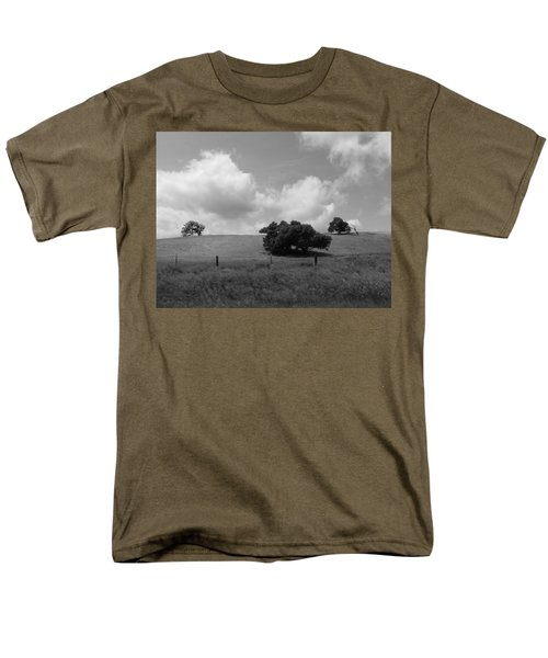 Men's T-Shirt  (Regular Fit) featuring the photograph Trees On The Hillrise by Kathleen Grace