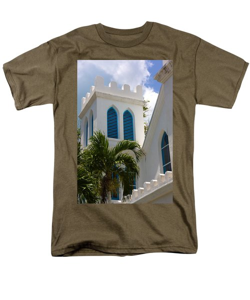 Men's T-Shirt  (Regular Fit) featuring the photograph Trinity Presbyterian Church Tower by Ed Gleichman