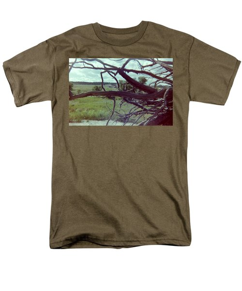 Men's T-Shirt  (Regular Fit) featuring the photograph Uprooted by Bonfire Photography