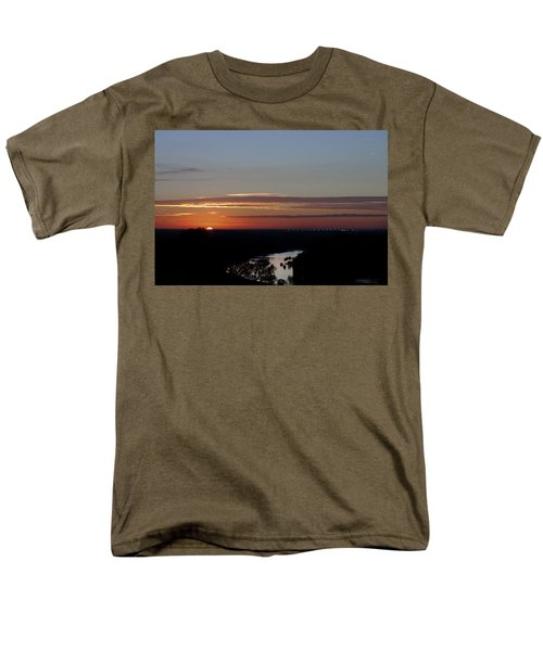 Men's T-Shirt  (Regular Fit) featuring the photograph Vanishing Sunset by Maj Seda