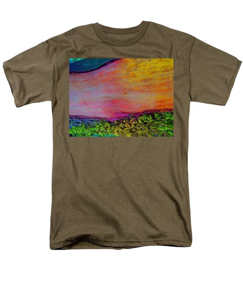 Men's T-Shirt  (Regular Fit) featuring the digital art Walk Into The Future by Richard Laeton