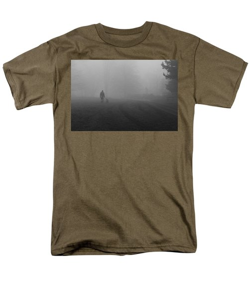 Men's T-Shirt  (Regular Fit) featuring the photograph Walk The Dog by Maj Seda
