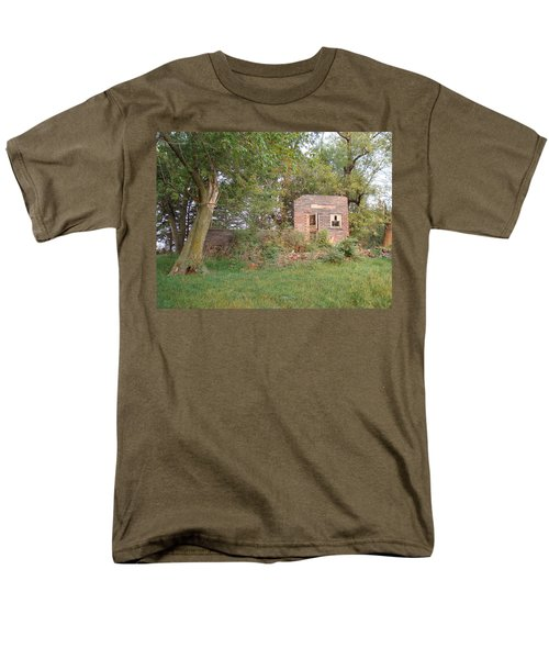 Men's T-Shirt  (Regular Fit) featuring the photograph Walnut Grove School Ruins by Bonfire Photography