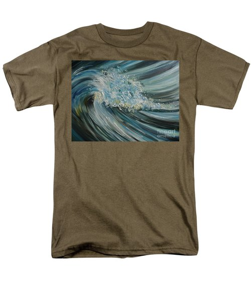 Men's T-Shirt  (Regular Fit) featuring the painting Wave Whirl by Julie Brugh Riffey