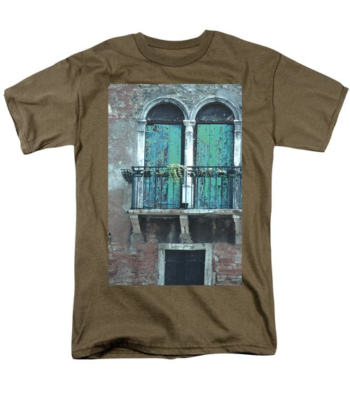 Men's T-Shirt  (Regular Fit) featuring the photograph Weathered Venice Porch by Tom Wurl