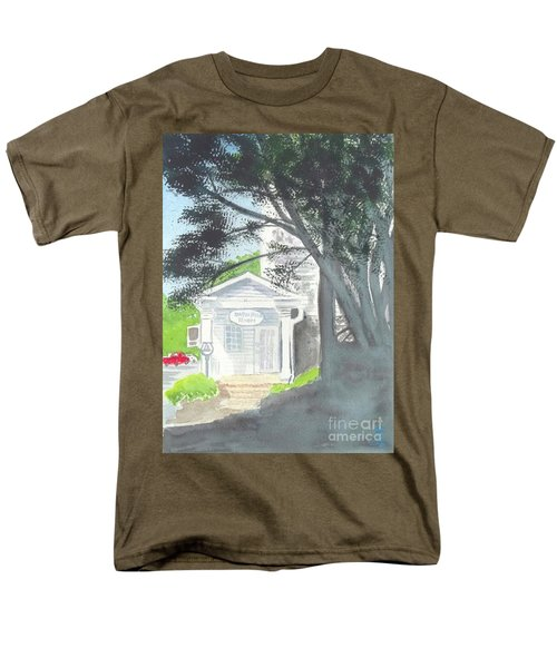 Men's T-Shirt  (Regular Fit) featuring the painting Wellers Carriage House 1 by Yoshiko Mishina
