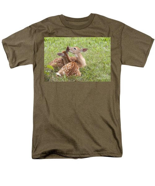 Men's T-Shirt  (Regular Fit) featuring the photograph Whispering Fawns by Jeannette Hunt