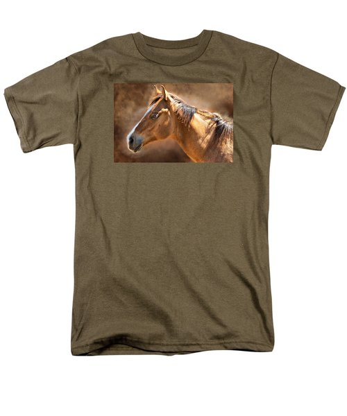 Men's T-Shirt  (Regular Fit) featuring the digital art Wild Mustang by Mary Almond