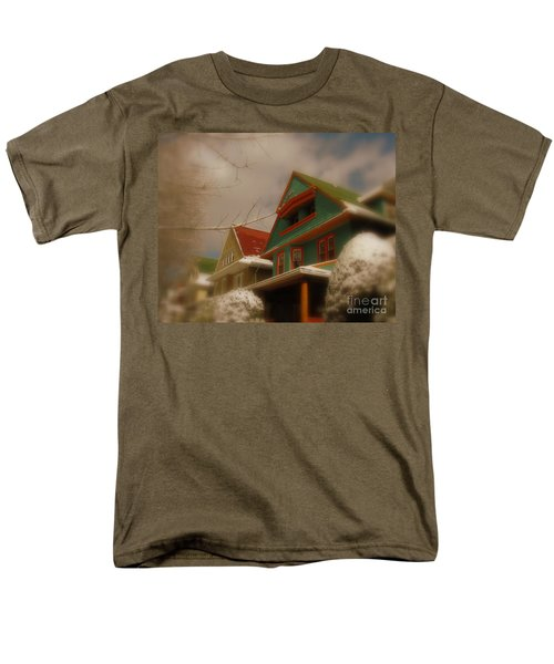 Winter On Rugby Road Men's T-Shirt  (Regular Fit) by Mark Gilman