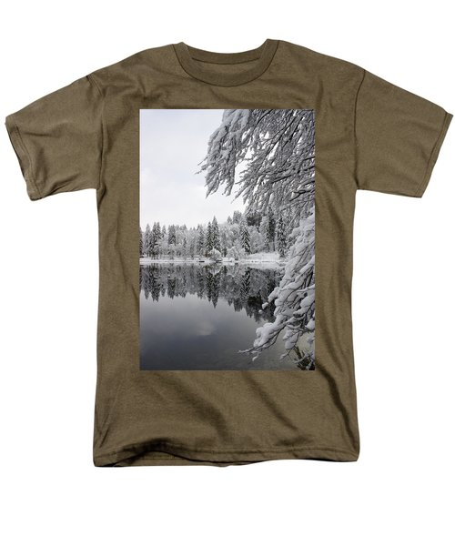 Wintery Reflections Men's T-Shirt  (Regular Fit) by Ian Middleton