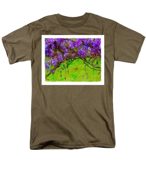 Wisteria Bower Men's T-Shirt  (Regular Fit) by Judi Bagwell