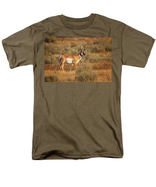 Wyoming Pronghorn Men's T-Shirt  (Regular Fit) by Ronald Lutz