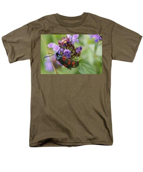 Burnet Moth Men's T-Shirt  (Regular Fit) by Martina Fagan