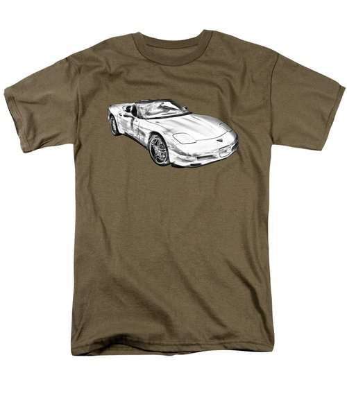 C5 Corvette Convertible Muscle Car Illustration Men's T-Shirt  (Regular Fit) by Keith Webber Jr