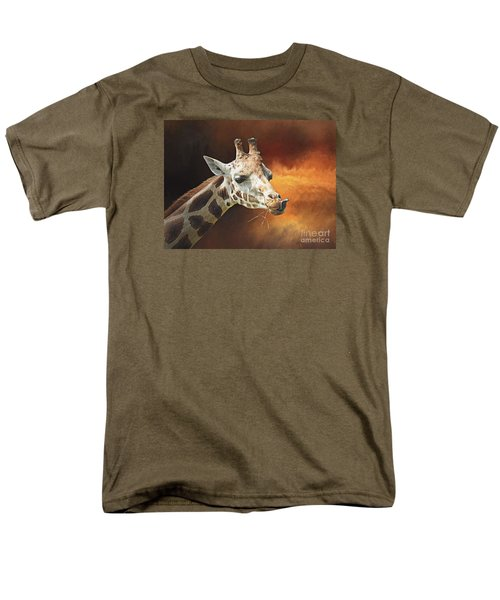 Giraffe Men's T-Shirt  (Regular Fit) by Suzanne Handel