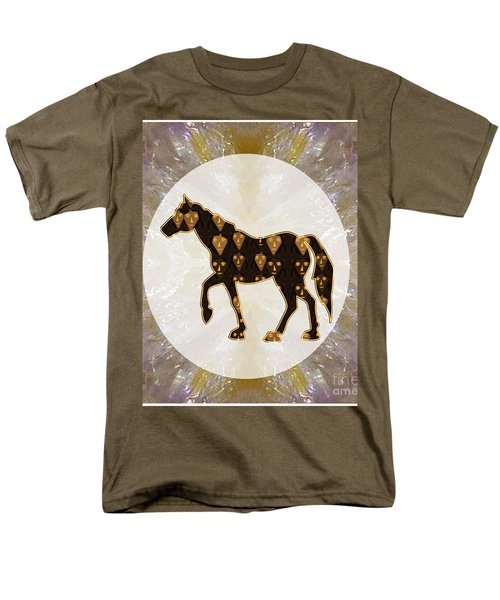Horse Prancing Abstract Graphic Filled Cartoon Humor Faces Download Option For Personal Commercial  Men's T-Shirt  (Regular Fit) by Navin Joshi
