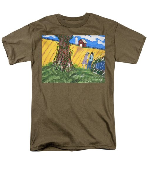 Men's T-Shirt  (Regular Fit) featuring the painting  I Got A Big One. by Jeffrey Koss