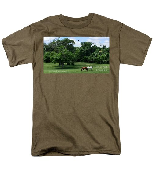Men's T-Shirt  (Regular Fit) featuring the photograph  Mr. And Mrs. Horse - No. 195 by Joe Finney