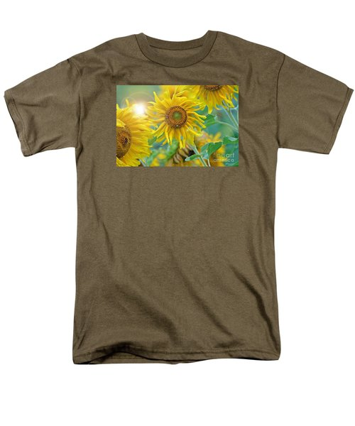 Men's T-Shirt  (Regular Fit) featuring the photograph  Sunflower by Lila Fisher-Wenzel