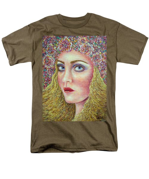 Men's T-Shirt  (Regular Fit) featuring the painting   The Flower Girl by Natalie Holland