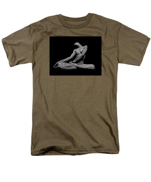 0174-dja Lotus Zebra Woman Sensual Feminine Black And White Figure Study Men's T-Shirt  (Regular Fit)