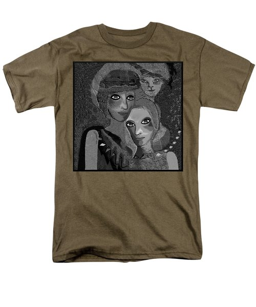 Men's T-Shirt  (Regular Fit) featuring the digital art 451 - To Lean On by Irmgard Schoendorf Welch