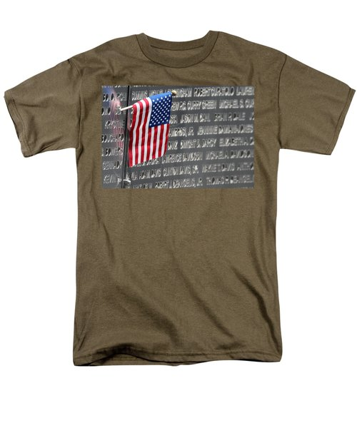 9 11 Memorial Rocky Point New York Men's T-Shirt  (Regular Fit) by Bob Savage