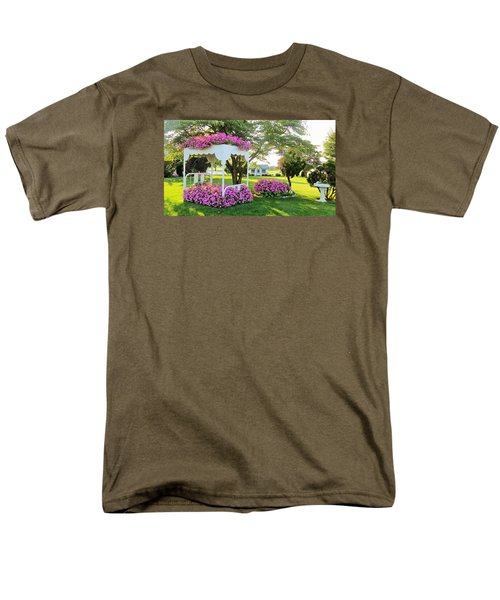 A Bed Of Flowers Men's T-Shirt  (Regular Fit) by Jeanette Oberholtzer